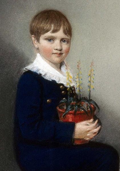 ชาลส์ ดาร์วิน วัยเจ็ดขวบ เมื่อปี ค.ศ. 1816