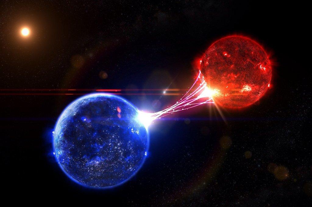 การดึงดูดกันของระบบดาวคู่